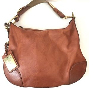 Ralph Lauren Vintage Proprietor Leather Hobo Purse